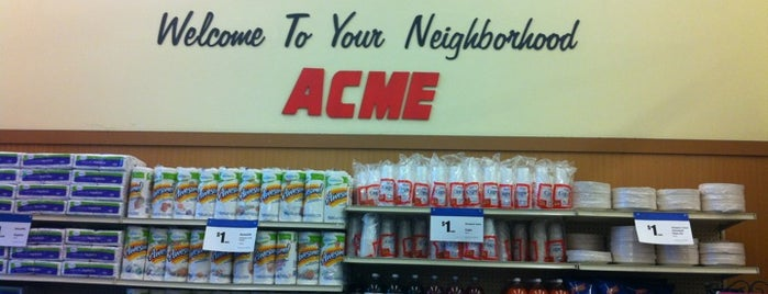 ACME Markets is one of places.
