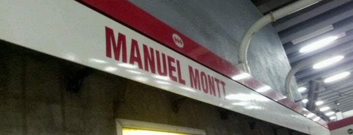 Metro Manuel Montt is one of Estaciones del Metro de Santiago.