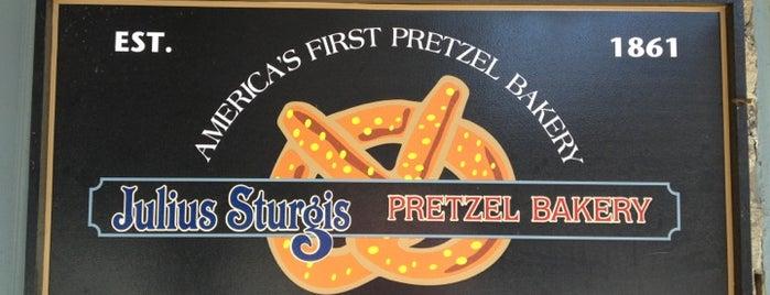 Julius Sturgis Pretzel Bakery is one of Factory Tours.