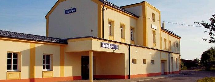 Železniční stanice Holešov is one of Železniční stanice ČR: H (3/14).