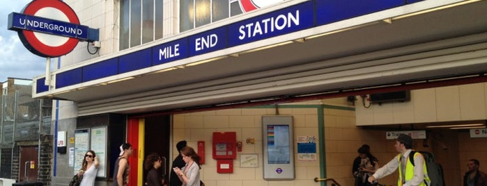 Mile End London Underground Station is one of zeus.