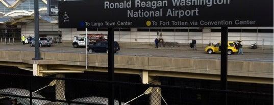 Ronald Reagan Washington National Airport Metro Station is one of WMATA Train Stations.