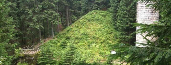 Protržená přehrada is one of Doly, lomy, jeskyně (CZ).
