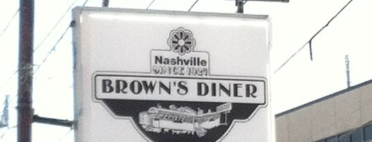 Brown's Diner is one of Nashville to-do.