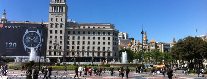Plaza de Cataluña is one of Barcelona, baby!.