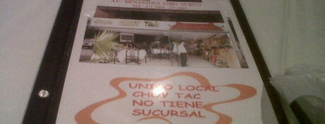 Chifa Choy Tac is one of Restaurantes Imperdibles.