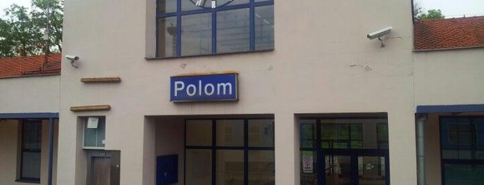 Železniční stanice Polom is one of Železniční stanice ČR: P (9/14).