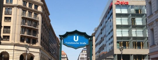U Französische Straße is one of Besuchte Berliner Bahnhöfe.