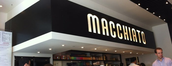 Macchiato Espresso Bar is one of Manhattan's Best Coffee by Subway Stop.