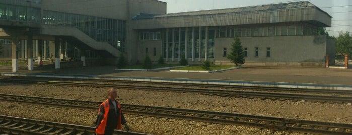 Ж/Д вокзал Канск-Енисейский is one of Транссибирская магистраль.