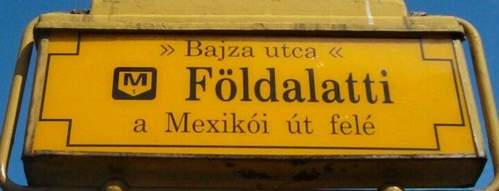 Bajza utca (M1) is one of Budapesti metrómegállók.