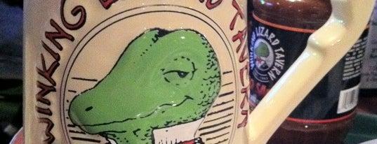 Winking Lizard Tavern is one of Cracken's Matchbook Collection.