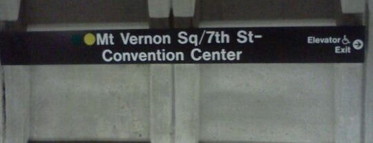 Mt Vernon Sq 7th St-Convention Center Metro Station is one of WMATA Train Stations.
