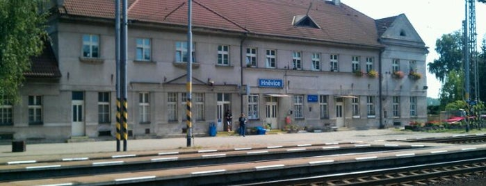 Železniční stanice Hněvice is one of Železniční stanice ČR: H (3/14).