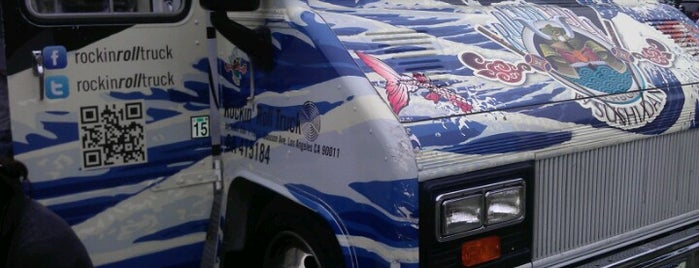 Rockin' Roll Truck Sushi is one of David & Dana's LA BAR & EATS!.
