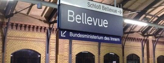 S Bellevue is one of Besuchte Berliner Bahnhöfe.