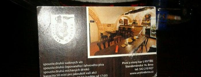 Pivní bar U Rytíře is one of Třetí pípa v Brně (pivnirecenze.cz).
