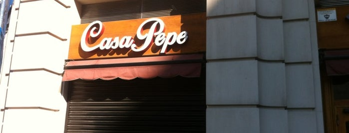 Casa Pepe is one of Barcelona Top 101 Restaurants.