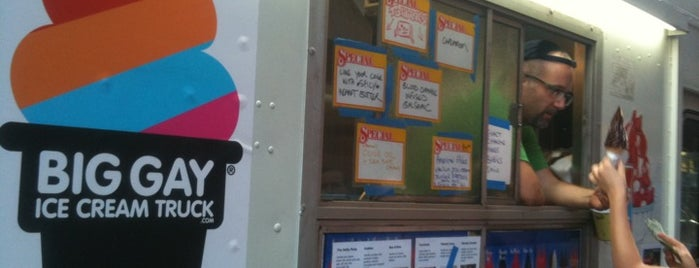 The Big Gay Ice Cream Truck is one of NYC Food on Wheels.