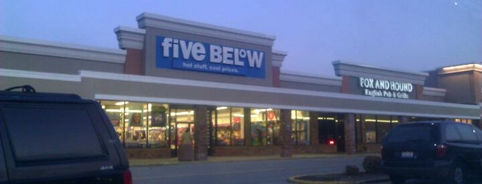 Five Below is one of Places tried: recommend.