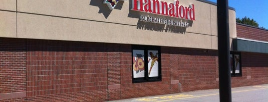 Hannaford Supermarket is one of places.