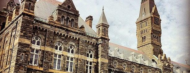 Georgetown University is one of Washington, DC.