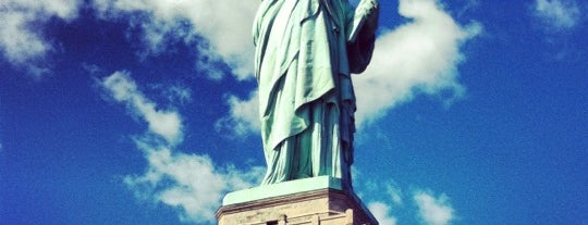 Liberty Island is one of New York.