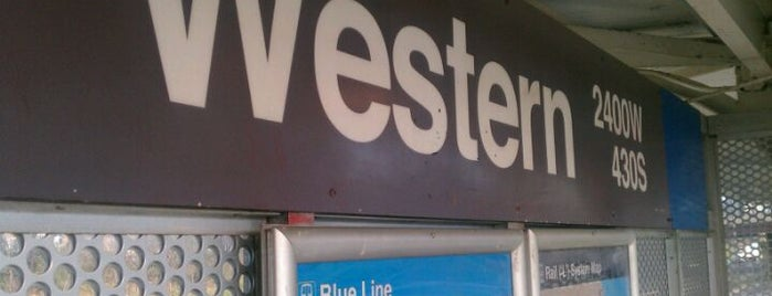 CTA - Western is one of CTA Blue Line.