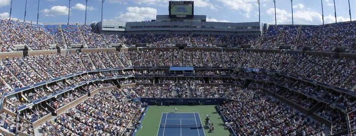 Arthur Ashe Stadium is one of US Open Courts.