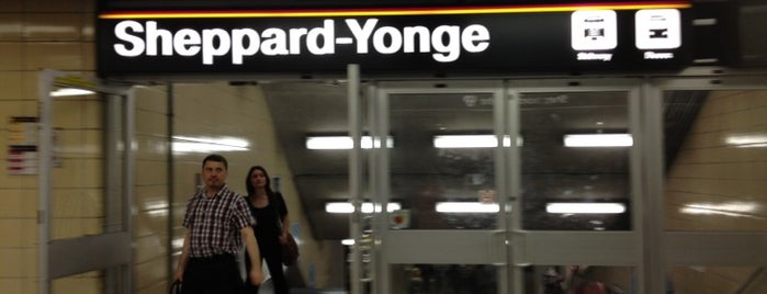 Sheppard-Yonge Subway Station is one of Toronto.