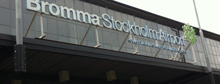 Stockholm Bromma Airport (BMA) is one of Airports - Sweden.