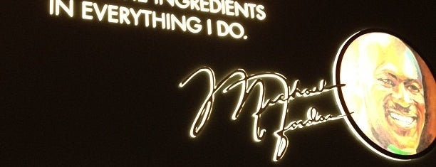 Michael Jordan's Steakhouse is one of 20 favorite restaurants.