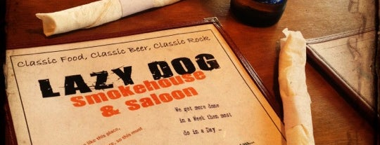 Lazy Dog Smokehouse & Saloon is one of NC new stuff to do.