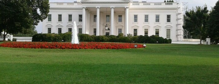 The White House is one of Top 10 Foursquare Check in Online List.