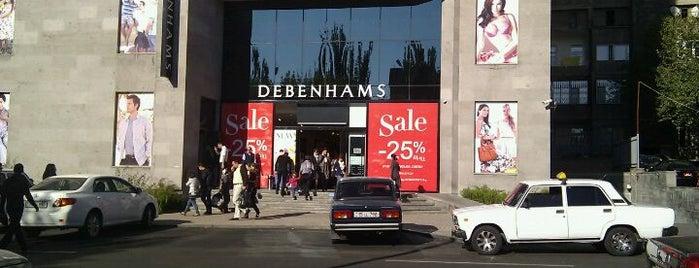 Debenhams is one of Shopaholics' guide to Yerevan.