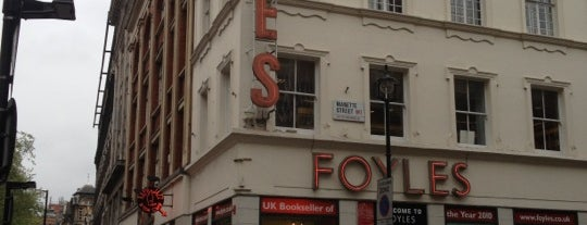 Foyles is one of My London.