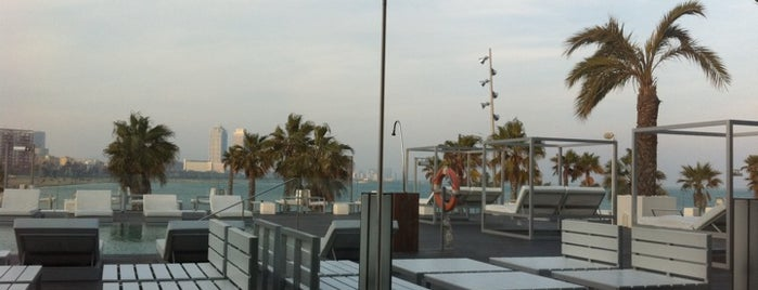 W Barcelona is one of Terrazas de Hotel BCN // BCN Hotel Terraces.