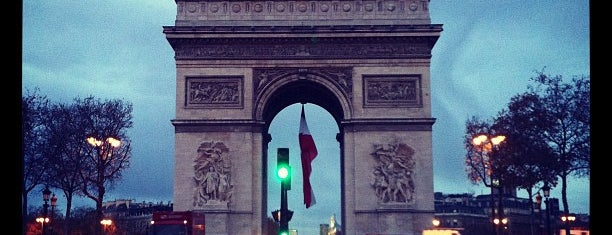 Arc de Triomphe is one of Paris.
