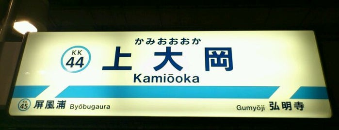 Keikyu Kamiōoka Station (KK44) is one of 京急本線(Keikyū Main Line).