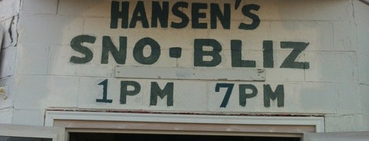 Hansen's Sno-Bliz is one of 500 Things to Eat & Where - South.
