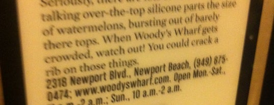 Woody's Wharf is one of Restaurant.com Dining Tips in Los Angeles.