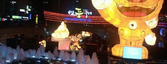 チョンゲ広場 is one of Seoul #4sqCities.
