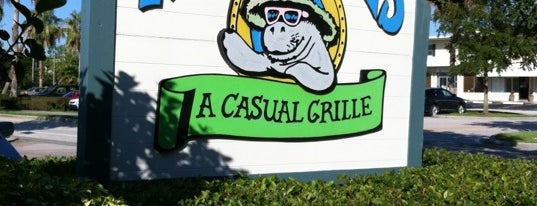 Mr. Manatee's Casual Grille is one of Kids Eat (Almost) Free near Vero Beach.
