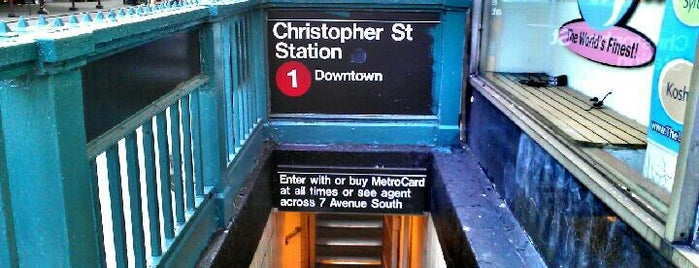 """MTA Subway - Christopher St/Sheridan Square (1) is one of """"Be Robin Hood #121212 Concert"""" @ New York!."""