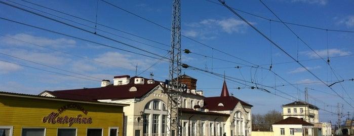 Ж/Д вокзал Кунгур is one of Транссибирская магистраль.