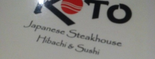 Koto Japanese Steak House is one of Asian Restaurants in Burlington.