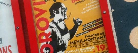 Théâtre de Ménilmontant is one of Paris East Village.