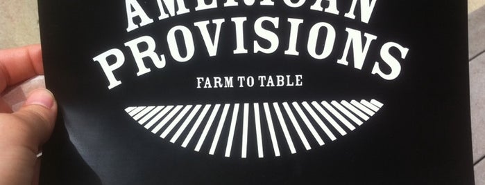American Provisions is one of Best new restaurants 2011.