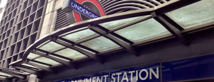 Monument London Underground Station is one of Stations.