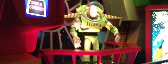 Buzz Lightyear's Space Ranger Spin is one of Walt Disney World.